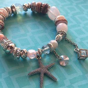 🆕 beads, charms, stretch bracelet